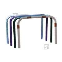 Anlehnbügel / Absperrbügel -Sylt- ø 60 mm aus Stahl, zum Aufdübeln, farblos, weiß / rot oder nach RAL