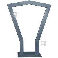 Anlehnbügel -Coppa- aus Stahl, Höhe 800 mm, zum Einbetonieren oder Aufdübeln