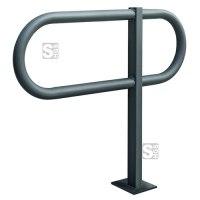 Anlehnbügel -Tour- aus Stahl, Höhe 800 mm, zum Einbetonieren oder Aufdübeln