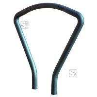 Anlehnbügel -Vuelta- aus Stahl, Höhe 800 mm, zum Einbetonieren oder Aufdübeln