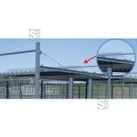 Dachverbinder für -Poseidon- aus Stahlblech, grauweiß