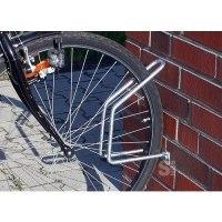 Einzelparker / Fahrradständer -Antalya-, zur Wandbefestigung 90°, Reifenbreite bis 43 mm