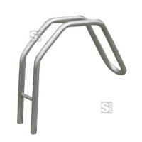 Einzelparker / Fahrradständer -Bratislava- aus Stahl, Reifenbreite bis 55 mm, 120 mm unter Flur