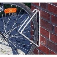Einzelparker / Fahrradständer -Istanbul-, zur Wandbefestigung, 45° oder 90°, Reifenbreite bis 43 mm