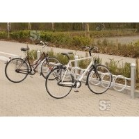 Fahrradklemme / Fahrradständer -Rhodos-, zweiseitige Radeinstellung 90°