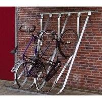 Fahrradparker / Schräghochparker -Barcelona-, einseitig, freie Aufstellung oder Wandbefestigung