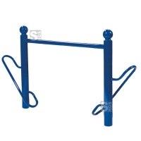 Fahrradständer -Bowl- Ø 76 mm aus Stahl, Höhe 800 mm, zum Einbetonieren