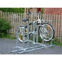 Fahrradständer -Paris- aus Flachstahl, zweiseitige Radeinstellung