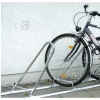 Reihenanlehnbügel -Bologna- aus Stahl, Radabstand 700 mm
