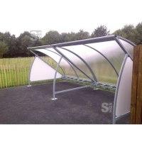 Überdachungssystem -Tent-, einseitig, inkl. Fahrradständer mit 6 Einstellplätzen