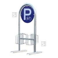 Werbe-Fahrradständer -Salzburg-, zweiseitig, mobil oder zum Aufschrauben